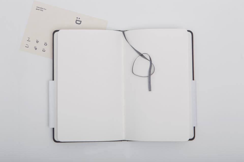 book notebook diary table work office bookmark pages sheet cover white