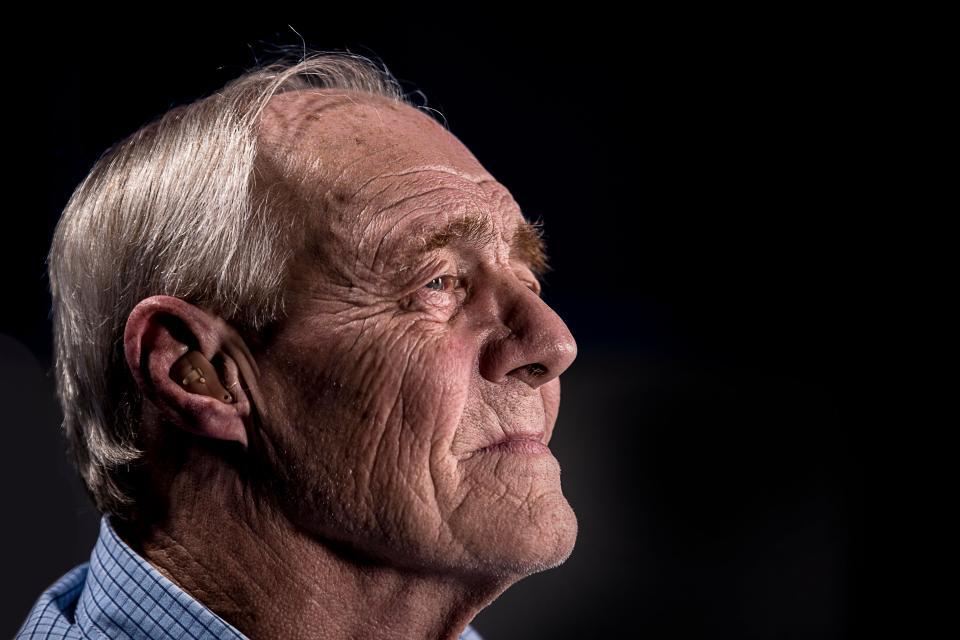 people old elderly man dark