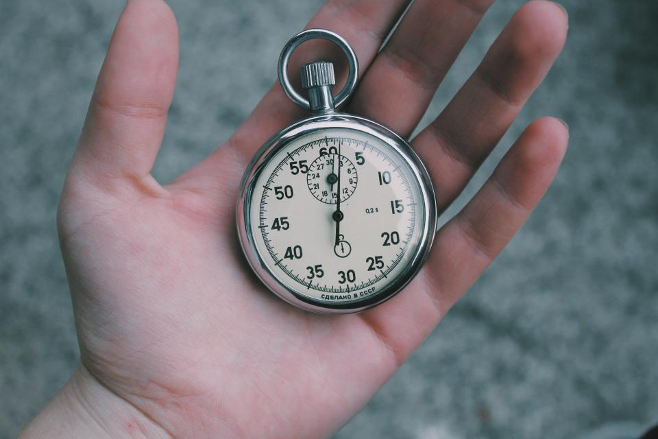 pocket watch clock time hand