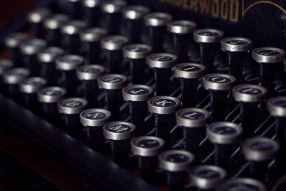 typewriter vintage letters