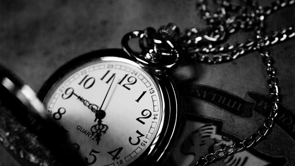 vintage clock black and white necklace time hour number