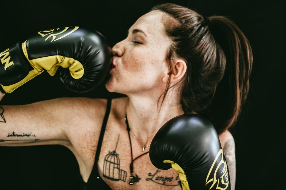 people girl boxing gloves fitness exercise work out woman athlete
