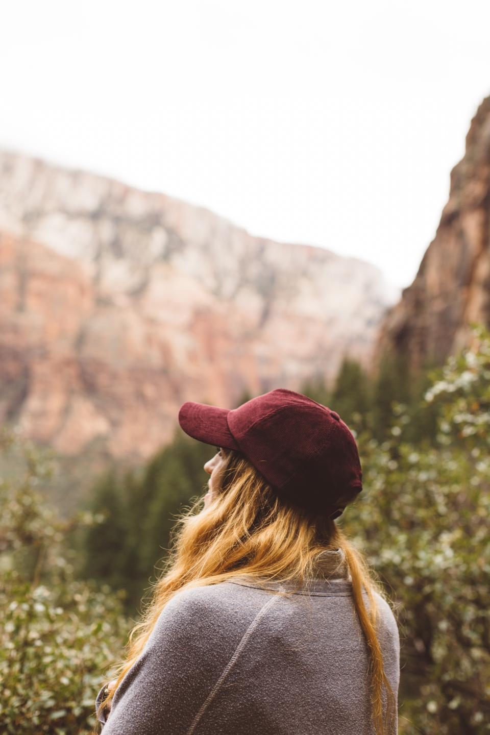 people girl woman travel outdoor adventure hill landscape mountain