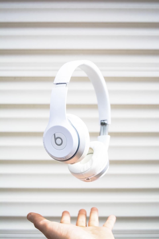 headphones music song foam white beats hand wal