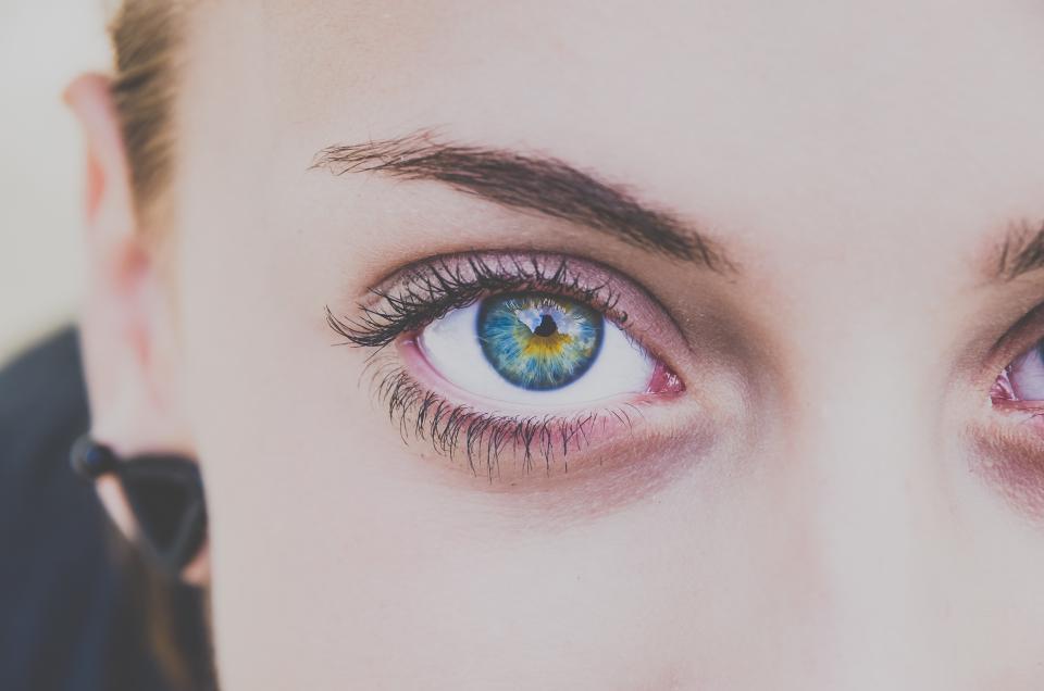 people girl woman face blue eyes eyelid eyebrow eyelashes