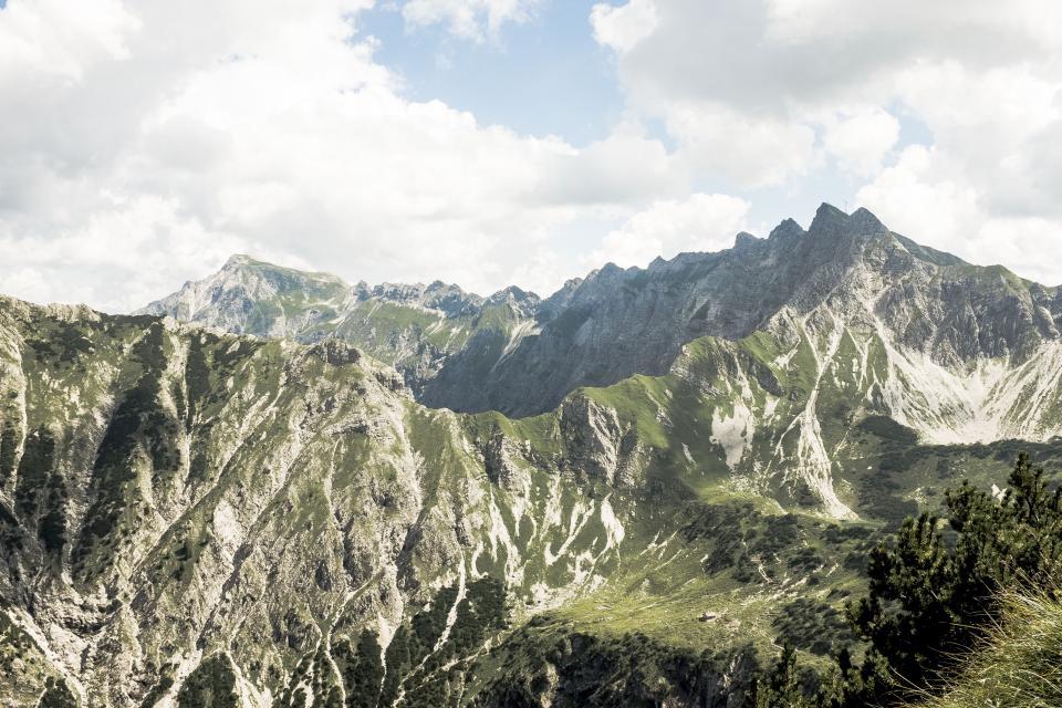 nature landscape mountain trek hike climb travel adventure clouds sky